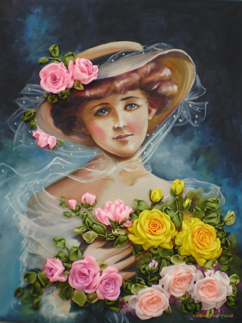 La belle aux fleur embroidered by lubna fatiha on deviantart for La belle fleur