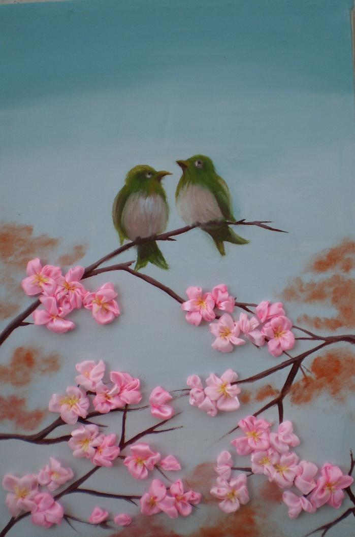 love bird (Embroidered) by Lubna-fatiha