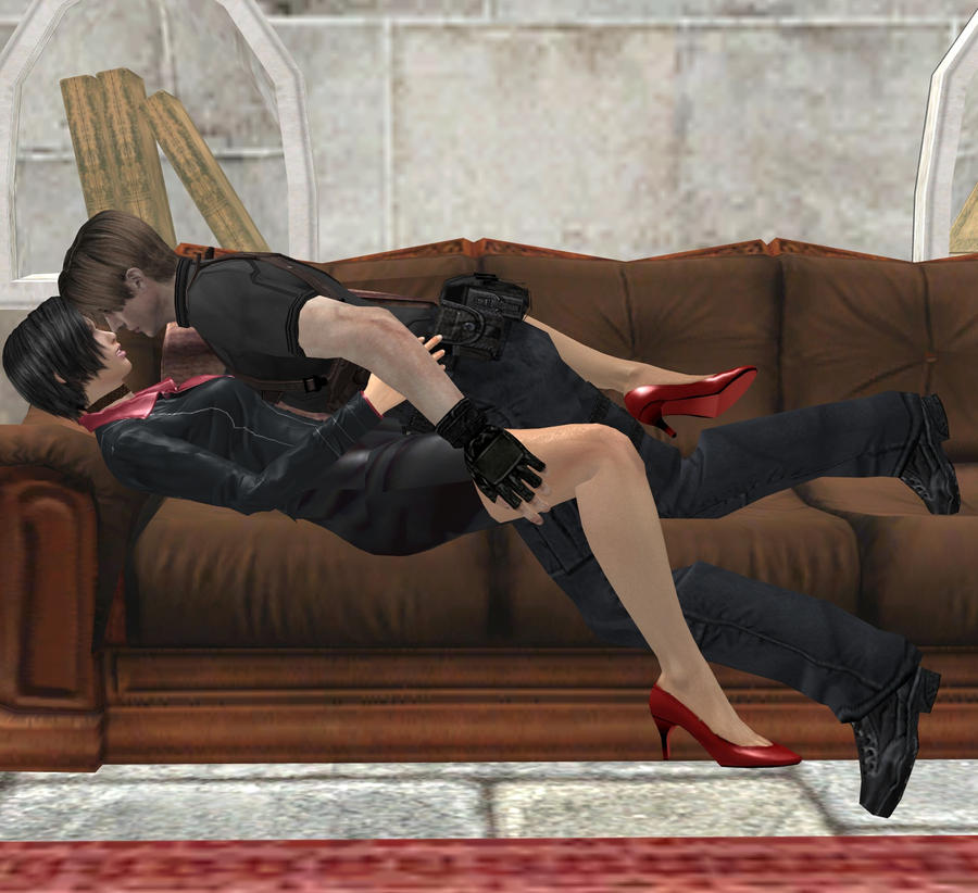 Ada Wong x Leon Kennedy by RyuAensland