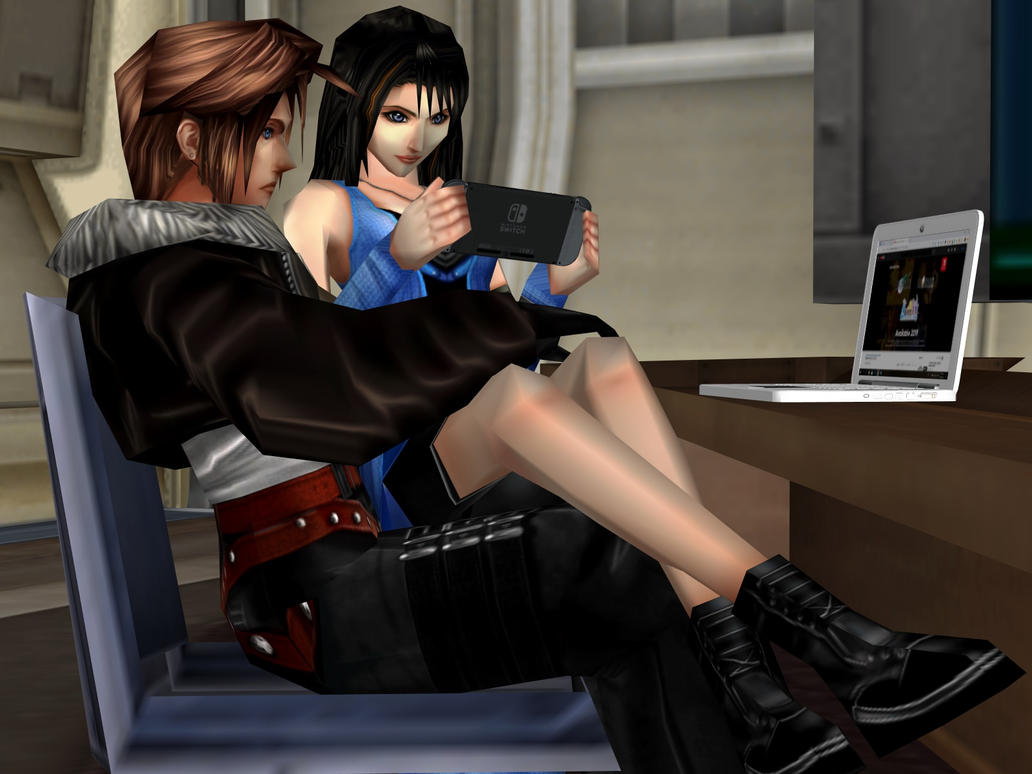 Rinoa And Squall In Conference Room by RyuAensland
