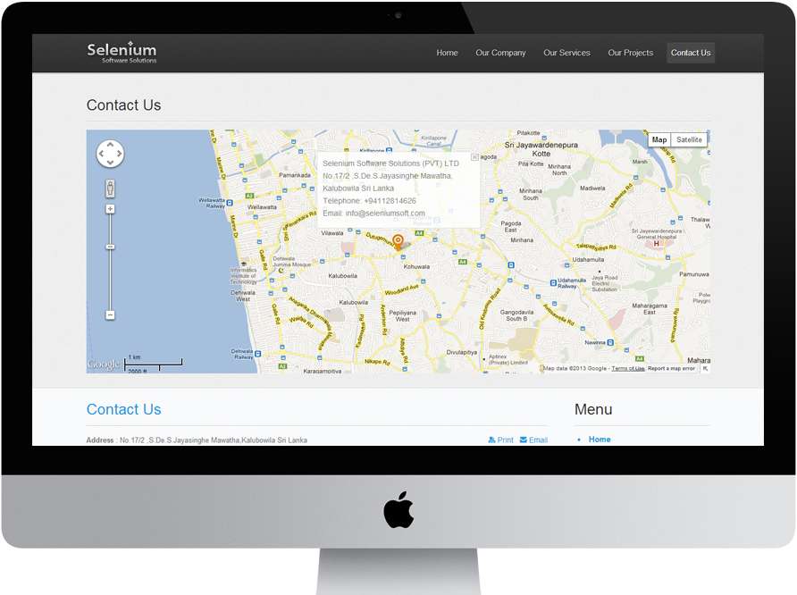 Selenium Software Solutions Contact Us By CEFFECTSStudio On - Us selenium map