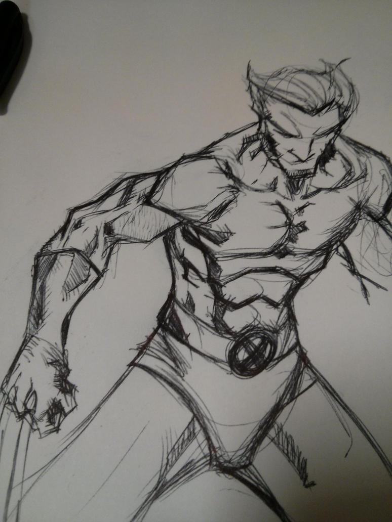 Wolverine Sketch by juanjosilva