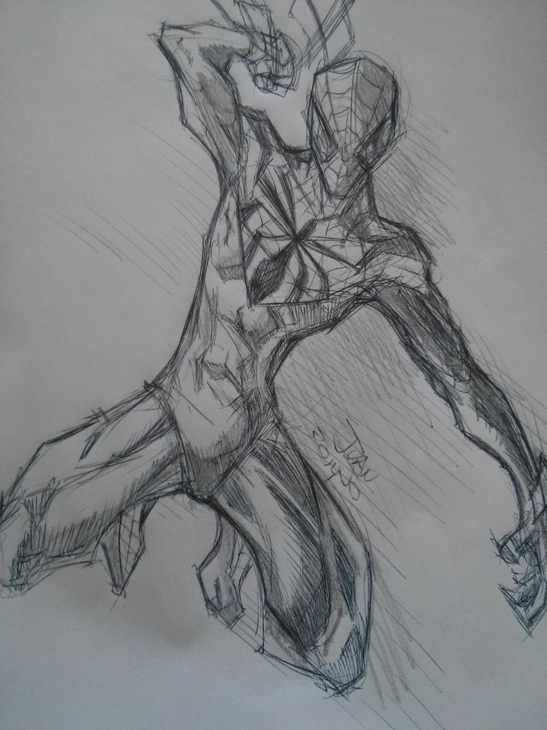 Superior Spiderman Sketch by juanjosilva