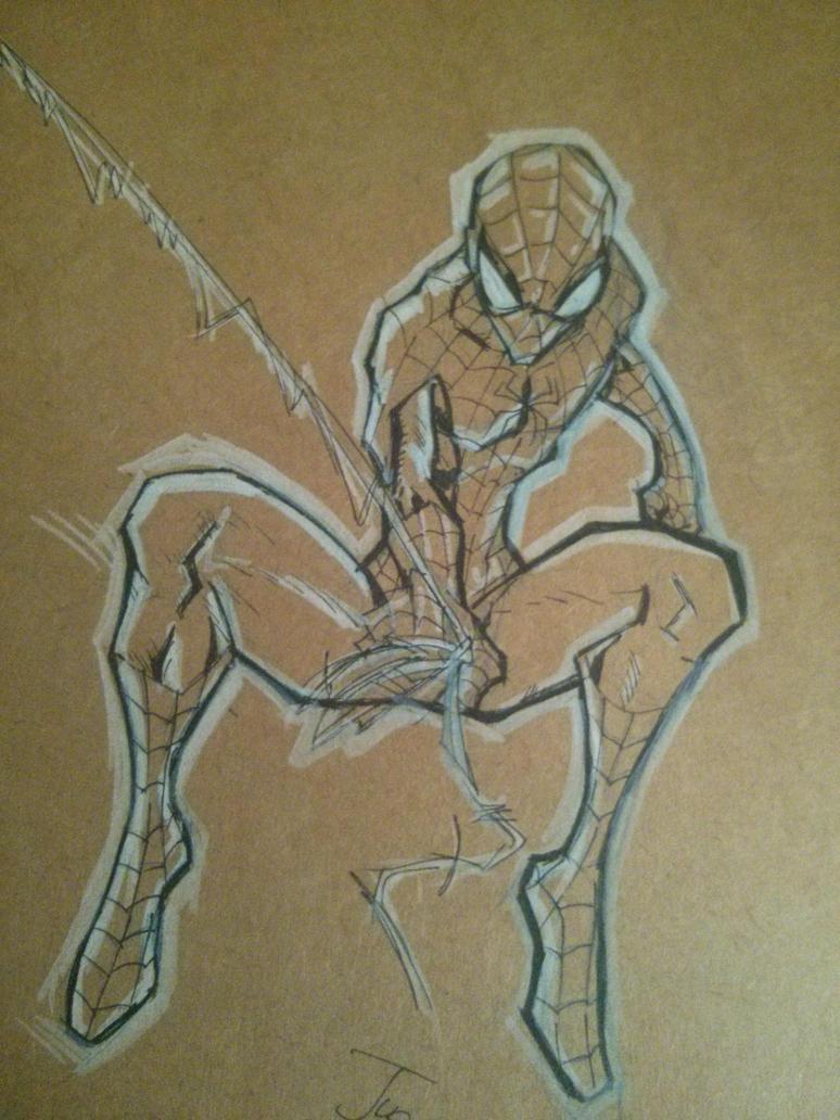 Spiderman BnW by juanjosilva