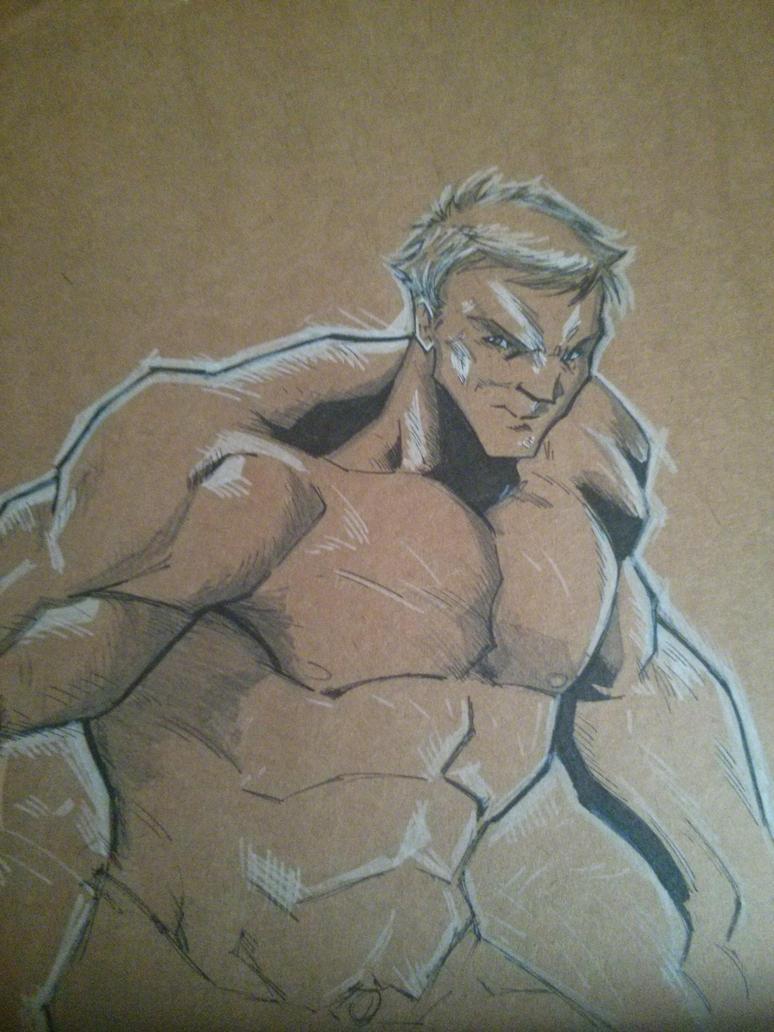 Hulk BnW by juanjosilva