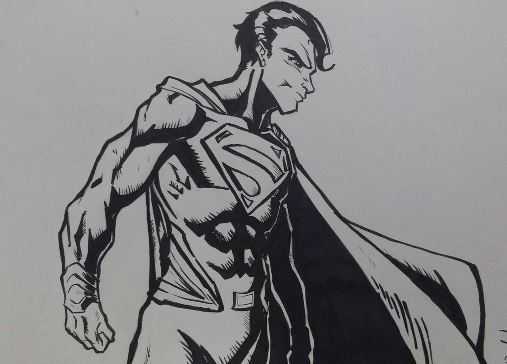 Superman BW by juanjosilva