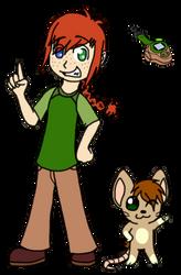 Jenny and Basilmon by UniversesCollideInc