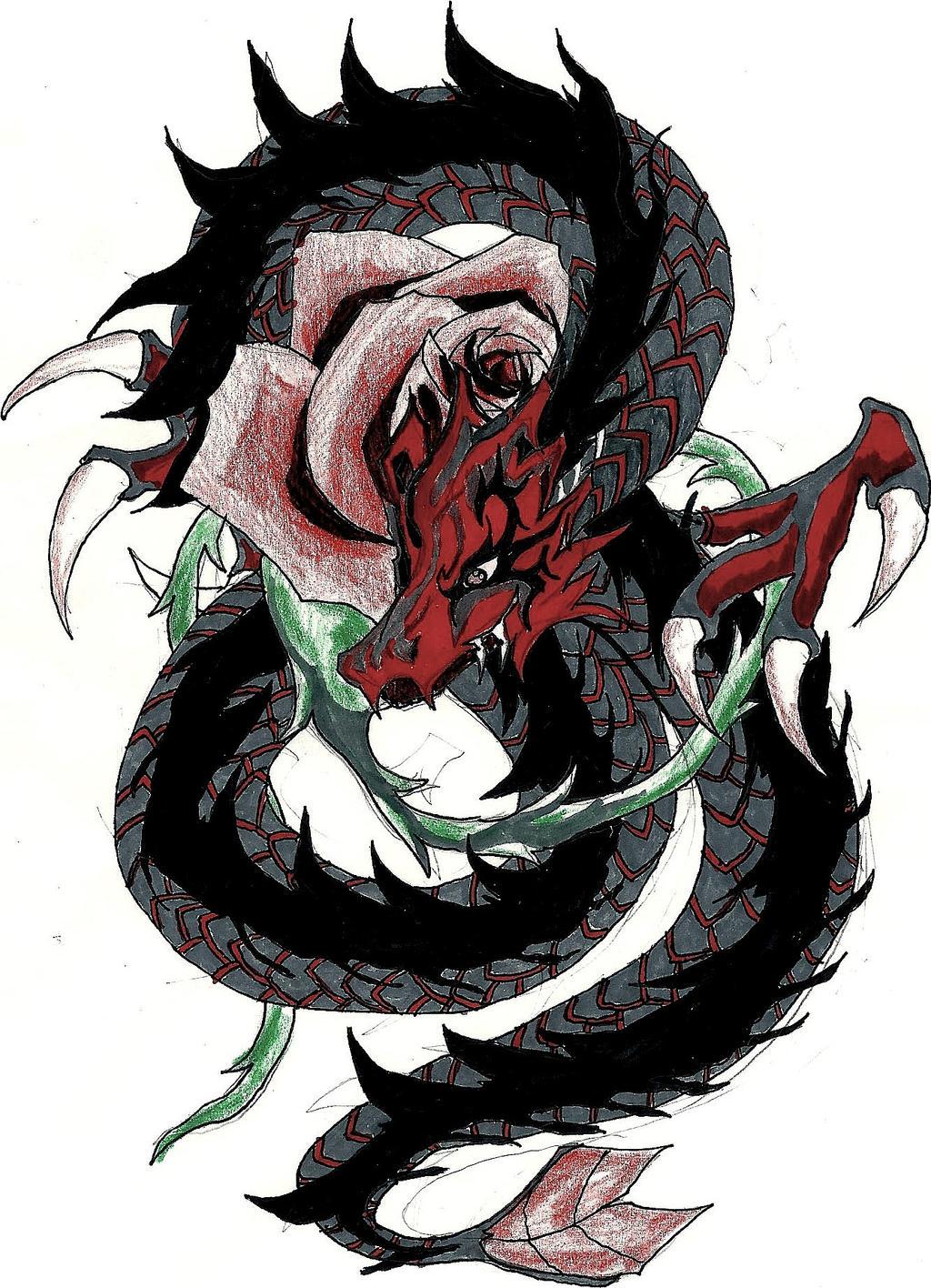 rose dragon by senhanafusa on deviantart. Black Bedroom Furniture Sets. Home Design Ideas