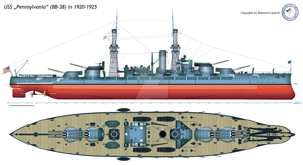 Uss Pennsylvania Bb 38 In 1920 1925 By Lioness Nala On