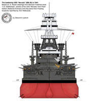 USS 'Nevada' - front by Lioness-Nala