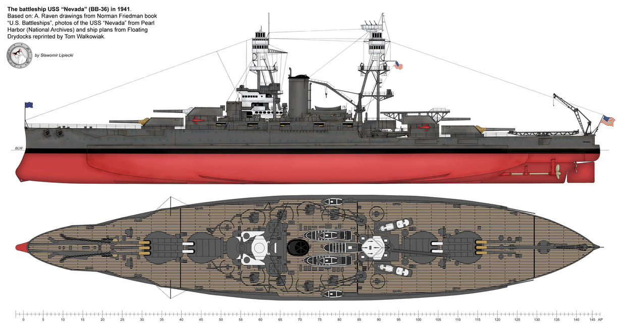 USS 'Nevada' - general view by Lioness-Nala