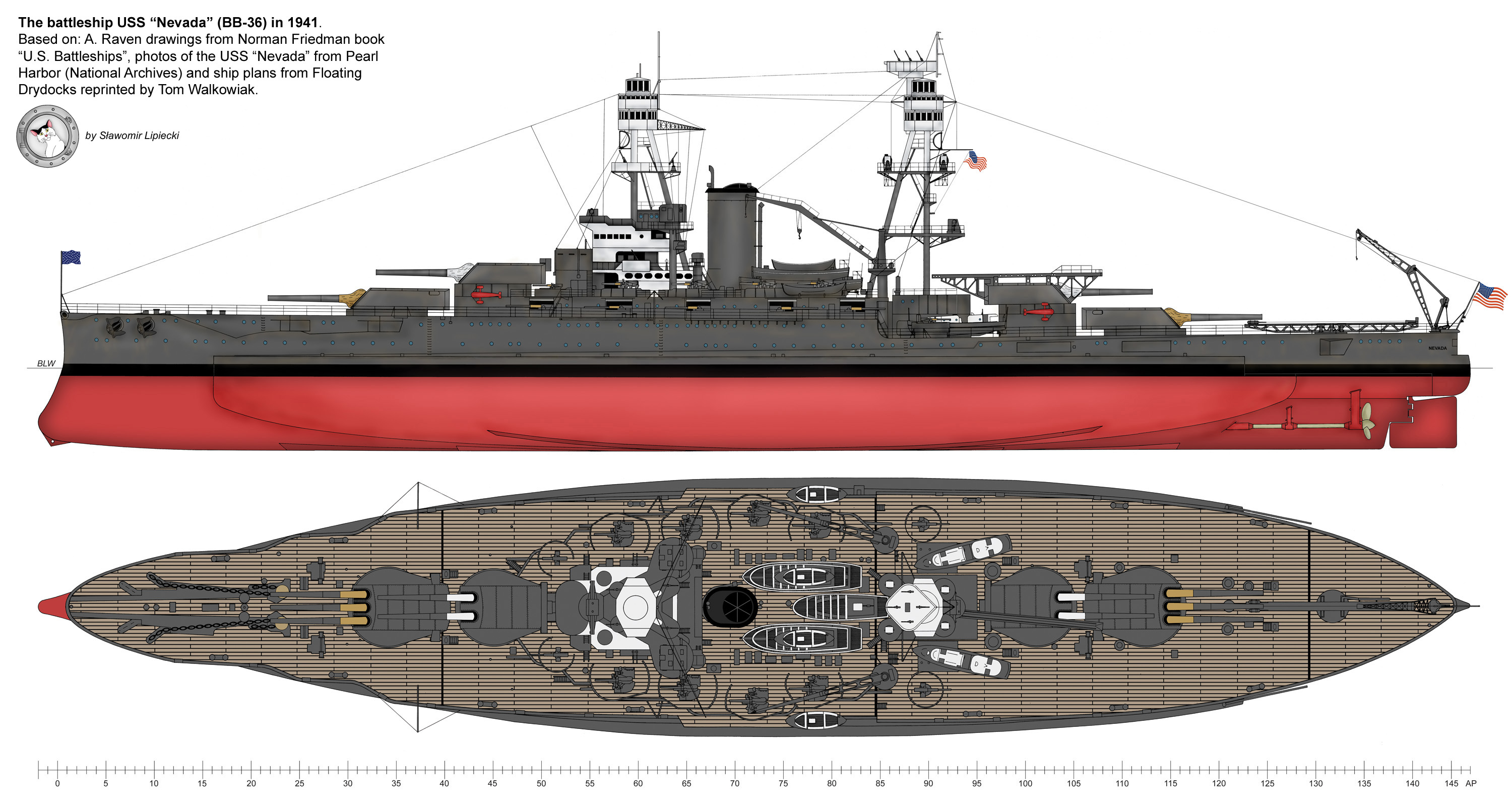 USS 'Nevada' - general view