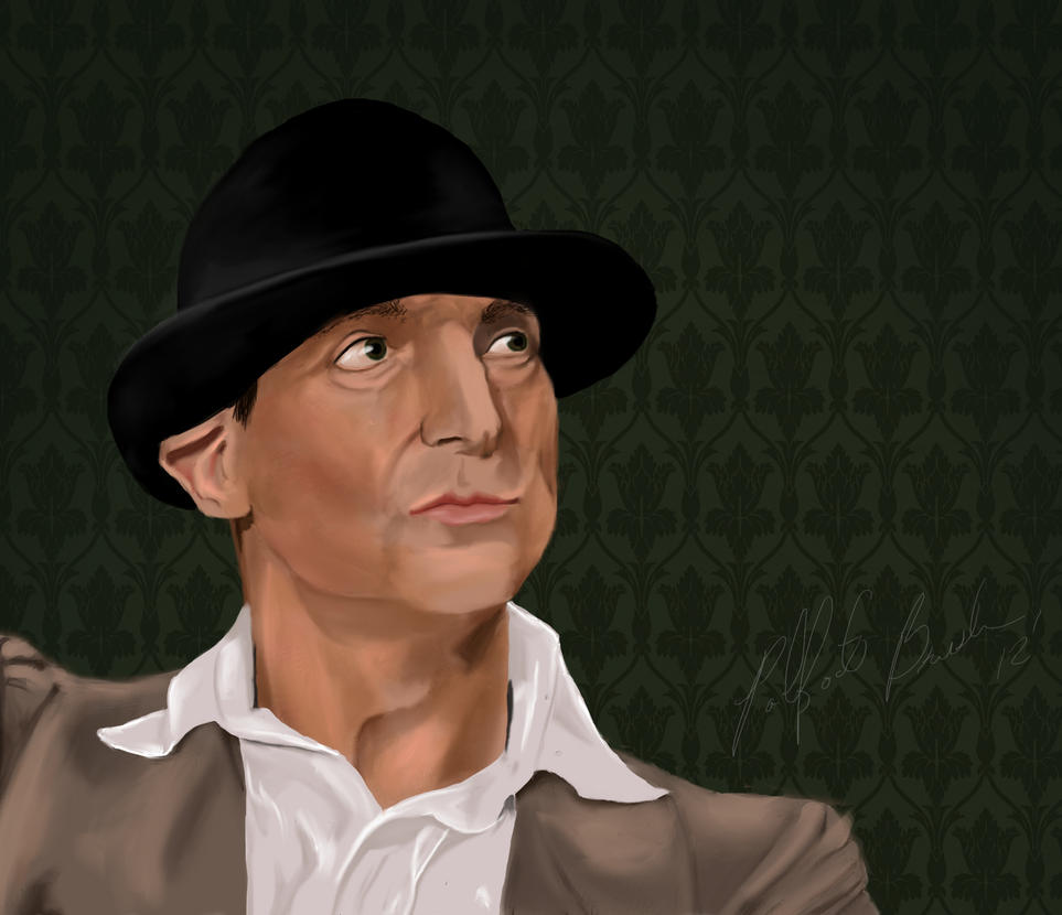 GALERIE GOODIES - Page 6 Jeremy_brett_and_the_hat_by_padfootbrush-d5i3cd6