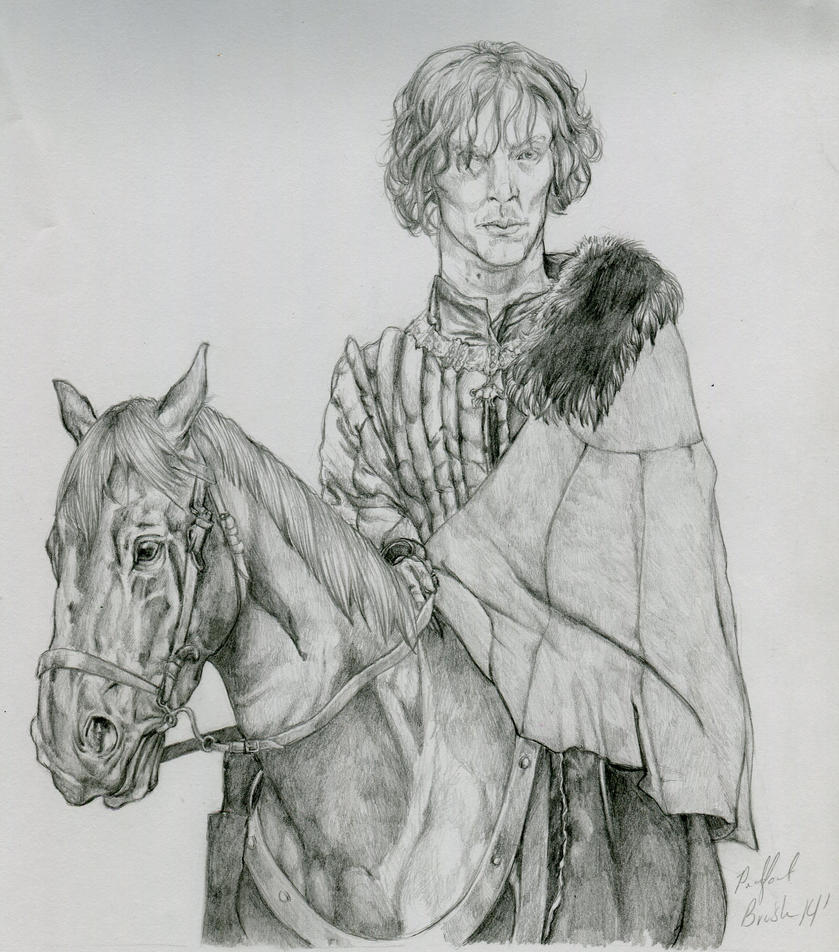 Benedict on Horse by PadfootBrush
