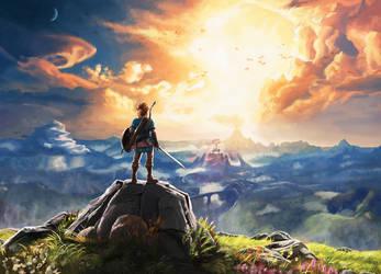 Legend of Zelda - BotW - Poster art redraw