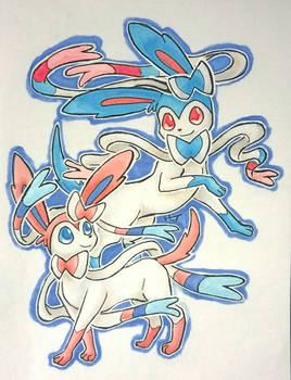 Sylveon - Pokemon Illustration