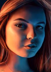Digital Portrait Study - Girl - 14.01.2020