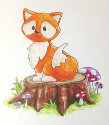 Fox in the Woods - concept illustration