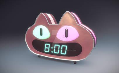 Cookie Cat Digital Clock - Steven Universe Fan art
