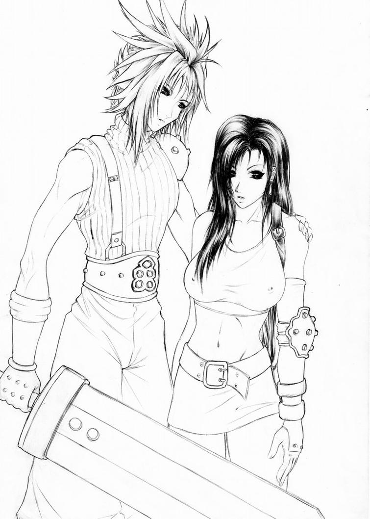 Cloud and Tifa by Gargu