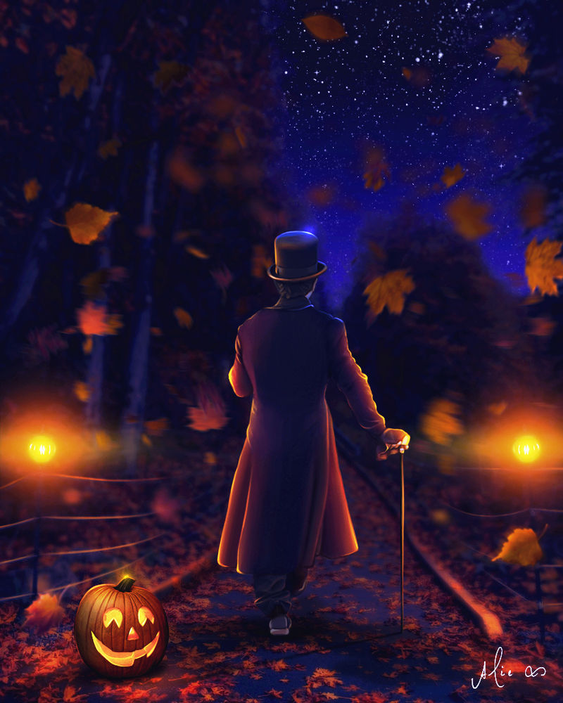 October Walking Away
