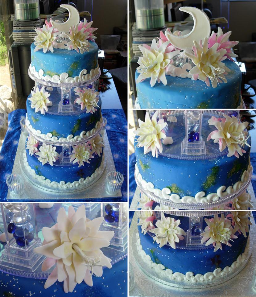 Lunar Flower Cake by echochan