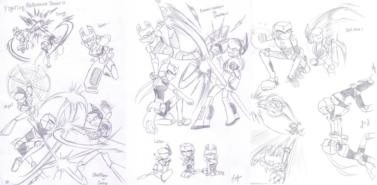 Fight Scenes Collection 1 by Evelynism on DeviantArt