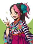 Miko in Kimono + Hakama