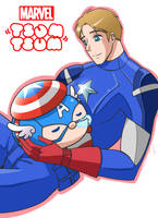 Marvel Tsum Tsum: Captain America by Evelynism