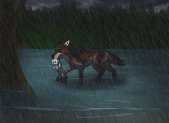 Braving the Storm: WoLF by Attemiff