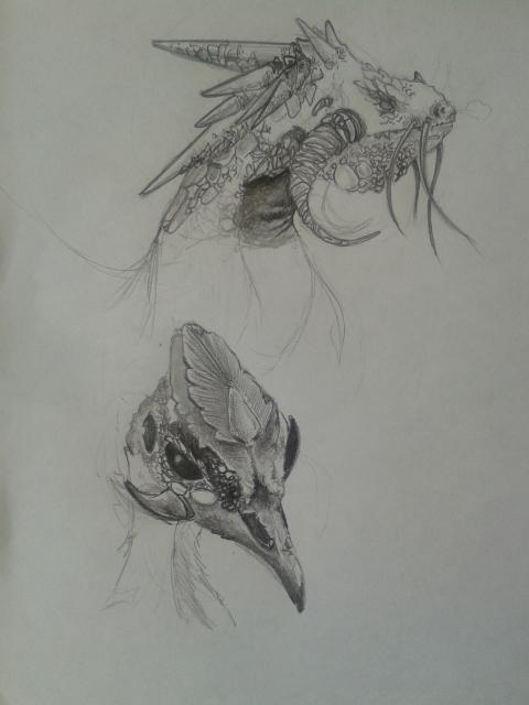 Dragon y criatura de fantasia by AndreesPrado