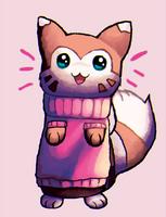 Rare Furrert with sweater by Kekekekekekekk