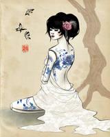 China doll series no. 1 -- Blue China