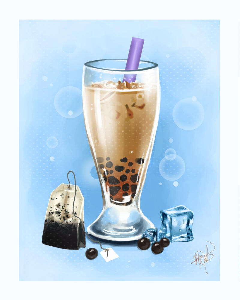 Boba milk tea by MeganMissfit