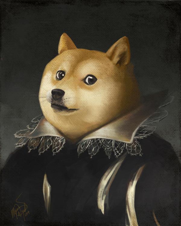 Portrait of Doge by MeganMissfit