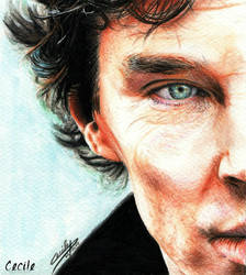 Benedict Cumberbatch - Sherlock by cecilepellerinfrance