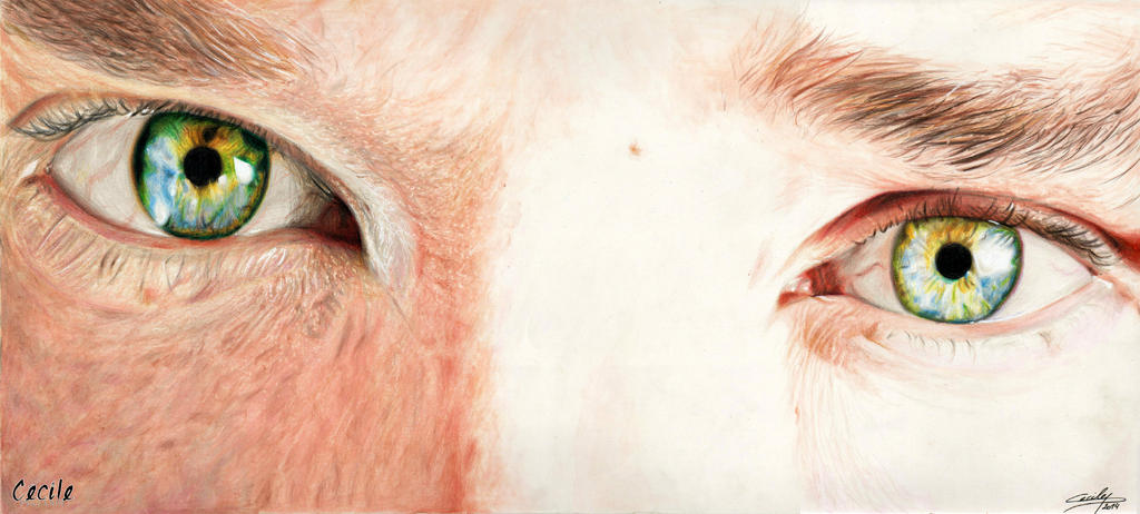 Benedict Cumberbatch - eyes by cecilepellerinfrance