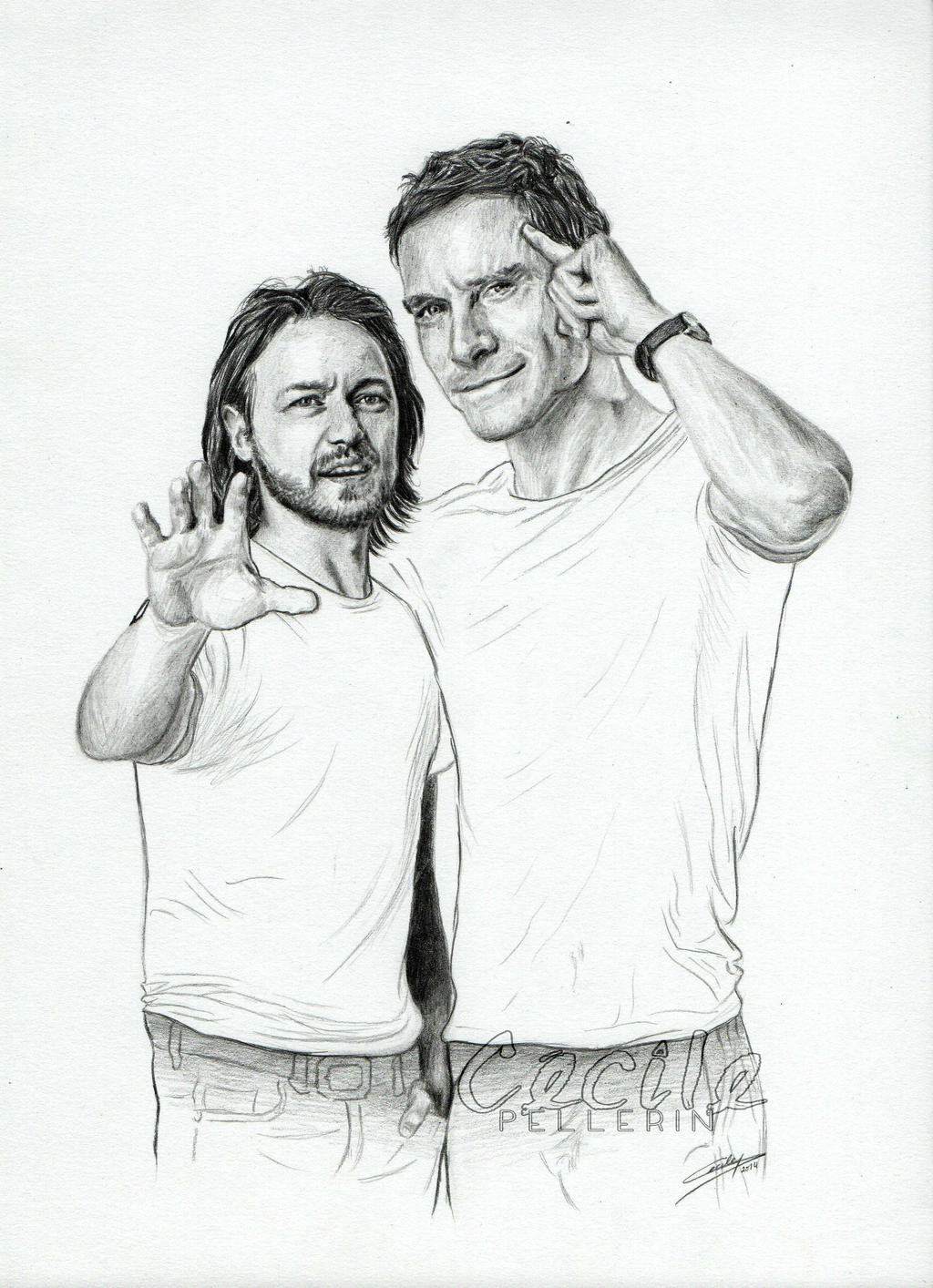 James McAvoy and Michael Fassbender by ...