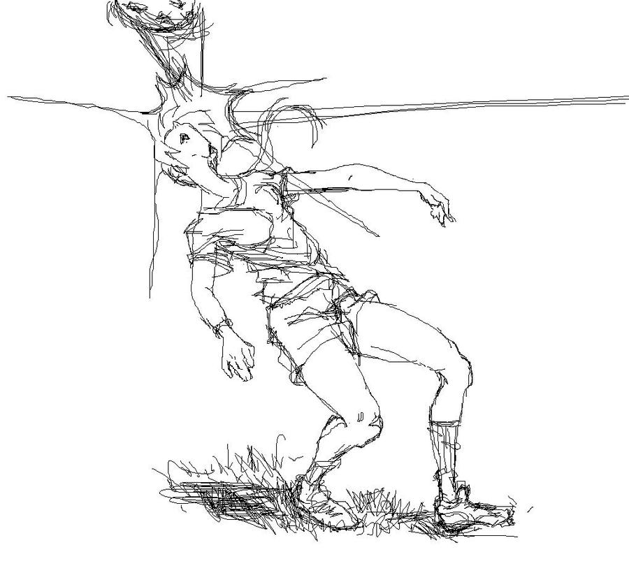 Soccer goalie sketch