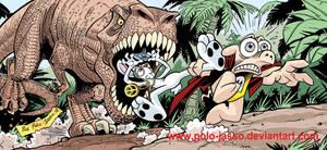 Cerdotado, Rolando y un T-Rex
