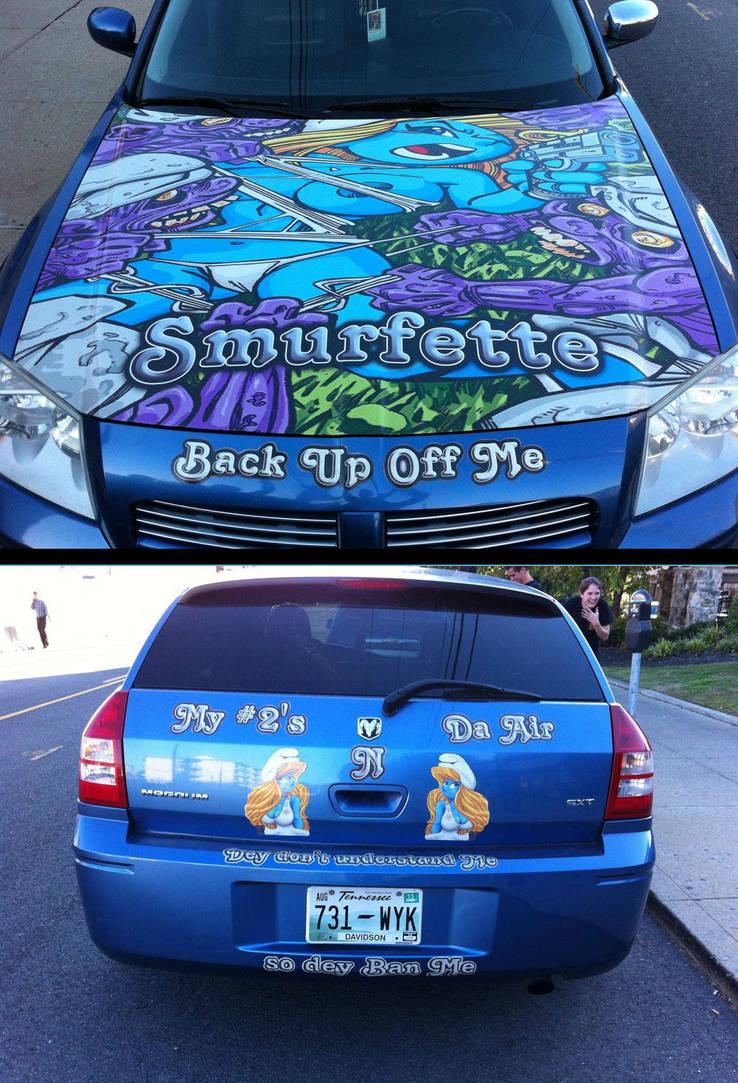 My Smurfette fan-art in a car of Tennesse.