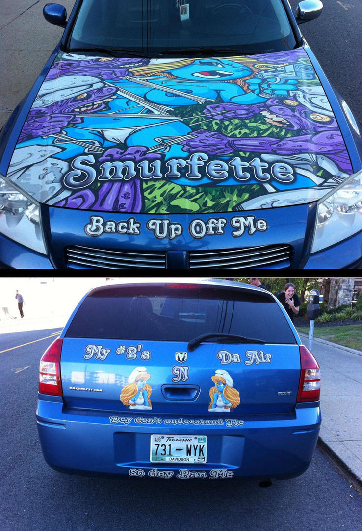 My Smurfette fan-art in a car of Tennesse. by POLO-JASSO