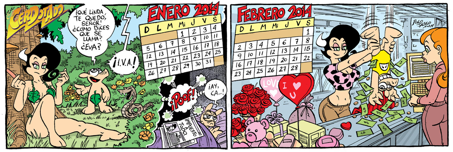 Calendario 2014 enero-febrero by POLO-JASSO