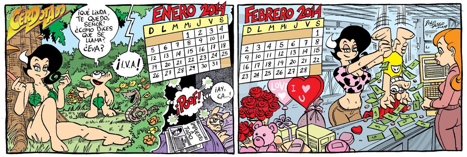 Calendario 2014 Enero Febrero By Polo Jasso On Deviantart