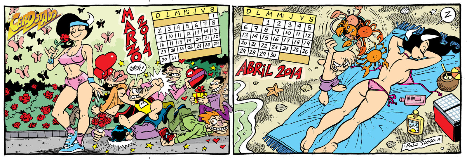 Calendario 2014 Marzo-Abril by POLO-JASSO