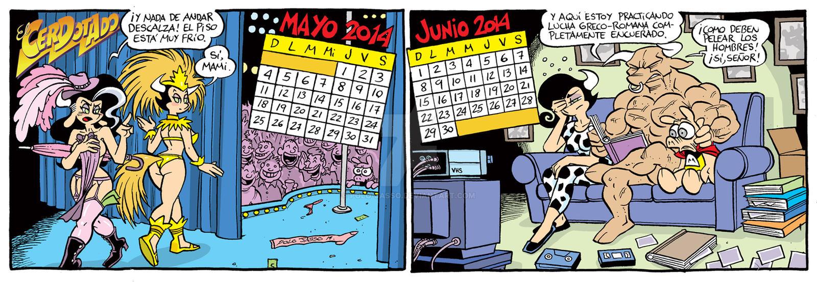 Calendario 2014 Mayo-Junio by POLO-JASSO
