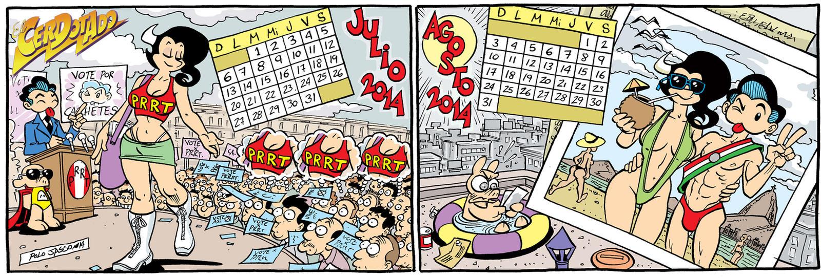 Calendario 2014 Julio-Agosto by POLO-JASSO