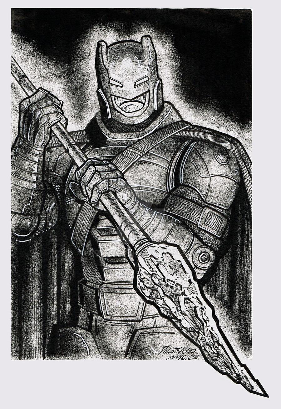Batman W Spear by POLO-JASSO