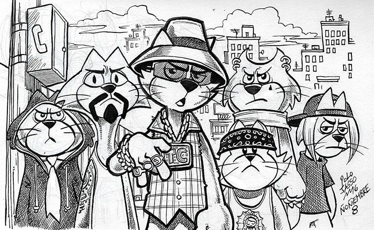 Don Gato y su pandilla de cholos by POLO-JASSO on DeviantArt