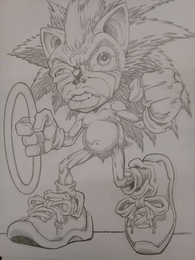 Sonic anda bien erizo by POLO-JASSO